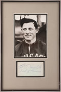 Baseball Collectibles:Others, Ed Walsh Signed Cut Signature Display....