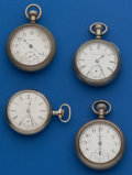 Timepieces:Pocket (post 1900), Four - 18 Size American Parts Watches. ... (Total: 4 Items)