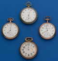 Timepieces:Pocket (post 1900), Four - 16 Size American Part Watches. ... (Total: 4 Items)