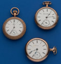 Timepieces:Pocket (post 1900), Three - American 18 Size Parts Watches. ... (Total: 3 Items)
