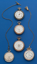 Timepieces:Pocket (post 1900), Five - Swiss Parts Watches. ... (Total: 5 Items)