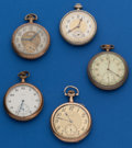 Timepieces:Pocket (post 1900), Five - 12 Size Parts Watches. ... (Total: 5 Items)