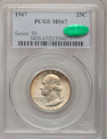 Washington Quarters: , 1947 25C MS67 PCGS. CAC. PCGS Population (56/0). NGC Census:(186/0). Mintage: 22,556,000. Numismedia Wsl. Price for proble...