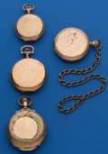 Timepieces:Pocket (post 1900), Four - Hunters Case Parts Watches. ... (Total: 4 Items)