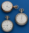 Timepieces:Pocket (post 1900), Three - 18 Size Parts Watches. ... (Total: 3 Items)