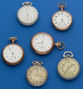 Timepieces:Pocket (post 1900), Six - American 16 Size American Parts Watches. ... (Total: 6 Items)