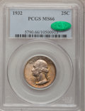 Washington Quarters: , 1932 25C MS66 PCGS. CAC. PCGS Population (148/2). NGC Census:(83/2). Mintage: 5,404,000. Numismedia Wsl. Price for problem...