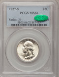 Washington Quarters: , 1937-S 25C MS66 PCGS. CAC. PCGS Population (145/21). NGC Census:(125/24). Mintage: 1,652,000. Numismedia Wsl. Price for pr...