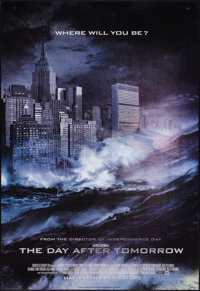 """The Day After Tomorrow (20th Century Fox, 2004). Lenticular One Sheet (27"""" X 39"""") Advance. Science Fiction..."""