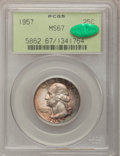 Washington Quarters: , 1957 25C MS67 PCGS. CAC. PCGS Population (173/0). NGC Census:(356/3). Mintage: 46,500,000. Numismedia Wsl. Price for probl...