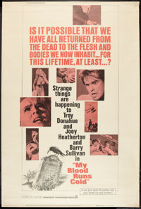 """My Blood Runs Cold (Warner Brothers, 1965). Poster (40"""" X 60"""") Style Z. Thriller"""