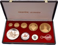 Albania: , Albania: People's Socialist Republic eight-piece gold & silver Proof set 1968-1970,... (Total: 8 coins)