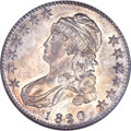 Bust Half Dollars, 1820/19 50C Square Base 2 MS61 NGC. CAC. O-101a, R.3....