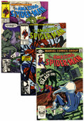 Modern Age (1980-Present):Superhero, The Amazing Spider-Man Group (Marvel, 1982-90) Condition: AverageNM-.... (Total: 57 Comic Books)