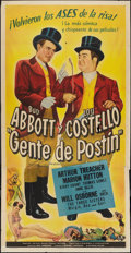 """Movie Posters:Comedy, In Society (Universal, 1944). Spanish Language Three Sheet (41"""" X 81""""). Comedy.. ..."""