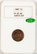 1887 1C PR65 Red and Brown NGC. CAC....(PCGS# 2349)