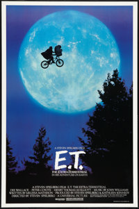 "E.T. The Extra-Terrestrial (Universal, 1982). One Sheet (26.75"" X 40.5"") Bicycle Style. Science Fiction"