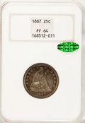 Proof Seated Quarters, 1887 25C PR64 NGC. CAC....