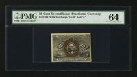 Fr. 1285 25¢ Second Issue. PMG Choice Uncirculated 64