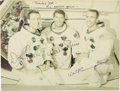 "Autographs:Celebrities, Apollo 7 Signed Crew Color Photograph, 9.25"" x 7.25"", matted andframed to 12"" x 9"". Inscribed ""Thanks Joe-/ An exercise-g...(Total: 1 Item)"
