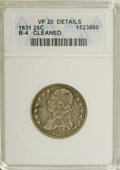 Bust Quarters: , 1831 25C Small Letters--Cleaned--ANACS. VF20 Details. B-4. NGC Census: (17/391). PCGS Population (9/330). Mintage: 398,000....