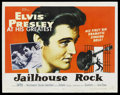 "Movie Posters:Elvis Presley, Jailhouse Rock (MGM, 1957). Half Sheet (22"" X 28"") Style B. ElvisPresley. ..."