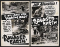 "Movie Posters:War, Ravaged Earth (Crystal Pictures, 1942). Window Cards (2) (14"" X22""). War. ... (Total: 2 Items)"