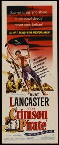 "Movie Posters:Adventure, The Crimson Pirate (Warner Brothers, 1952). Insert (14"" X 36"").Adventure. ..."