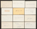 Baseball Collectibles:Others, 1905 Major League Baseball Debut Year Signed Index Cards andGovernment Postcards Lot of 20....