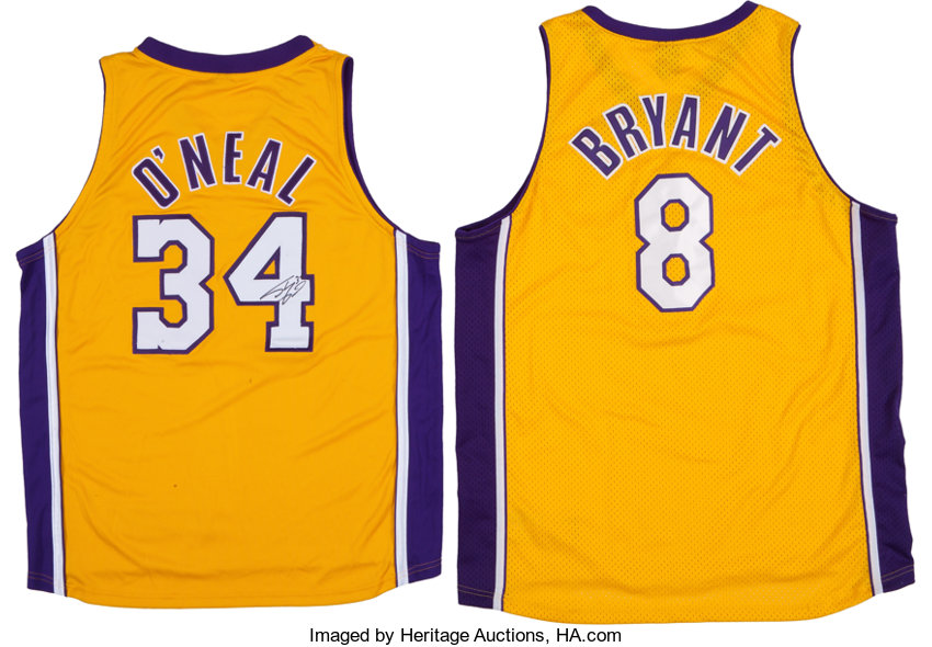 Shaquille O Neal Signed Jersey And Unsigned Kobe Bryant