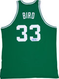 Basketball Collectibles:Uniforms, Larry Bird Signed Jersey....