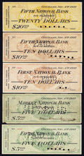Obsoletes By State:Ohio, Cincinnati Panic of 1907 Scrip November 4, 1907 Very Good orBetter.. ... (Total: 7 notes)