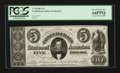 Confederate Notes:1861 Issues, T34 $5 1861 PF-3 Cr. 264 CC.. ...
