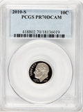 Proof Roosevelt Dimes, 2010-S 10C Clad PR70 Deep Cameo PCGS. PCGS Population (0). NGCCensus: (0). (#418802)...