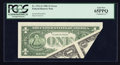 Error Notes:Foldovers, Fr. 1911-G $1 1981 Federal Reserve Note. PCGS Gem New 65PPQ.. ...