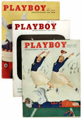 Magazines:Miscellaneous, Playboy Group (HMH Publishing, 1956-57) Condition: Average VG. ...(Total: 18 Items)