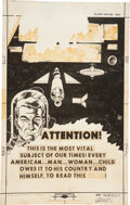 Original Comic Art:Covers, Rocco Mastroserio Outer Space #17 Cover Original Art(Charlton, 1958)....