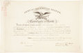 "Autographs:U.S. Presidents, James Polk Military Certificate Signed as president. Onepartially-printed vellum page, 15.75"" x 10"", ""City ofWashington..."
