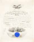 "Autographs:U.S. Presidents, William McKinley Naval Appointment Signed as president. One partially-printed vellum page, 15.75"" x 19.75"", Washington, Apri..."