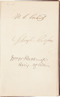 "Autographs:U.S. Presidents, Ulysses S. Grant and James Garfield Autograph Album Signed, ca. 1870. Grant has the first signature in the book (""..."