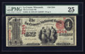 National Bank Notes:Wisconsin, La Crosse, WI - $1 1875 Fr. 384 The La Crosse NB Ch. # 2344. ...