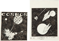 Hannes Bok Cosmos Illustration Original Art Group Plus (New York: Fantasy Magazine, 1935).... (Total: 9 Items)