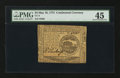 Colonial Notes:Continental Congress Issues, Continental Currency May 10, 1775 $4 PMG Choice Extremely Fine 45.....