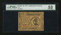 Colonial Notes:Continental Congress Issues, Continental Currency May 10, 1775 $3 PMG About Uncirculated 53.....