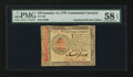 Colonial Notes:Continental Congress Issues, Continental Currency January 14, 1779 $70 PMG Choice About Unc 58EPQ.. ...