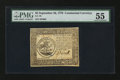 Colonial Notes:Continental Congress Issues, Continental Currency September 26, 1778 $5 PMG About Uncirculated55.. ...