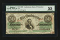 Confederate Notes:1863 Issues, T57 $50 1863 PF-5.. ...