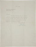"Autographs:Celebrities, Albert Einstein Typed Letter Signed ""A. Einstein."" One page,8.5"" x 11"", Princeton, New Jersey, July 3, 1948. The letter...(Total: 3 Items)"