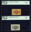 Fractional Currency:First Issue, 5¢ and 10¢ First Issue Notes.. ... (Total: 2 lots)