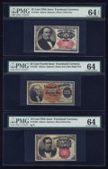 Fractional Currency:Fifth Issue, Three Fourth and Fifth Issue Fractionals Grading 64.. ... (Total: 3notes)